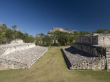 The Ball Court in Foreground and Acropolis in the Background, Ek Balam, Yucatan Photographic Print by Richard Maschmeyer