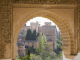 View to the Alhambra Through Arch in Gardens of the Generalife, Granada, Andalucia Photographic Print by Ruth Tomlinson