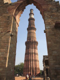 Qutab Minar Tower, UNESCO World Heritage Site, New Delhi, India, Asia Photographic Print by Wendy Connett