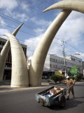 Elephant Tusk Arches, Mombasa, Kenya, East Africa, Africa Photographic Print by Andrew Mcconnell