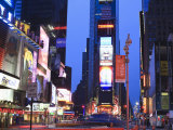 Times Square at Dusk, Manhattan, New York City, New York, United States of America, North America Photographic Print by Amanda Hall