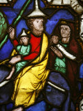 Stained Glass of Moses and the Exodus, Klosterneuburg, Austria, Europe Photographic Print by  Godong