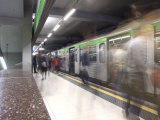People in the Subway Station, Milan, Lombardy, Italy, Europe Photographic Print by Vincenzo Lombardo