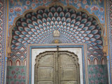 Door, City Palace, Jaipur, Rajasthan, India, Asia Photographic Print by Wendy Connett