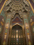 The Mihrab in the Sultan Qaboos Grand Mosque, Muscat, Oman, Middle East Photographic Print by  Godong