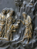 St. John the Baptist Giving Baptism, Baptistry of San Giovanni, Florence, Tuscany, Italy, Europe Photographic Print by  Godong