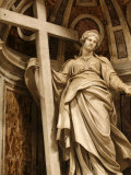 Statue of St Helen in St Peter's Basilica  Vatican  Rome  Lazio  Italy  Europe