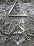 Masonic Symbols of Angle Bracket and Delta at the Human Right Monument in the Paris Champ De Mars Photographic Print by Godong