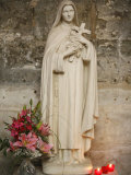 Statue of St.Therese De Lisieux, Semur-En-Auxois, Cote D'Or, Burgundy, France, Europe Photographic Print by  Godong