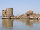 Crusader Sea Castle, Sidon, Lebanon, Middle Eas, Photographic Print