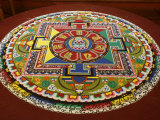 Mandala of Compassion, Paris, Ile De France, France, Europe Photographic Print by  Godong