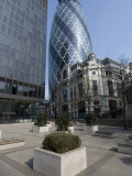 View of the Gherkin, St. Mary Axe, London, England, United Kingdom, Europe Photographic Print by Ethel Davies