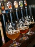 Beer Glasses at the Broggeriet Brewery in Sonderborg, Jutland, Denmark, Scandinavia, Europe Photographic Print by Yadid Levy