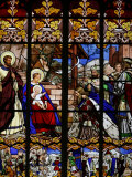 Stained Glass Window of the Visit of the Magi, St. Gatien Cathedral, Tours, Indre-Et-Loire Photographic Print by Godong
