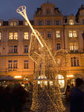 Christmas Market Decorations at Staromestske, Stare Mesto Photographic Print by Richard Nebesky