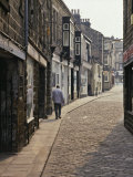 Cobbled Side Street in Otley, Yorkshire, England, United Kingdom, Europe Photographic Print by Nigel Blythe