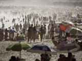 Crowded Beach Scene, Copacabana, Rio De Janeiro, Brazil, South America Photographic Print by  Purcell-Holmes