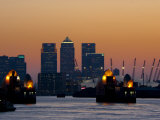 Thames Barrier, O2 Arena, Canary Wharf, London, England, United Kingdom, Europe Photographic Print by Charles Bowman