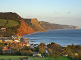 Sidmouth and the Red Sandstone Cliffs of the Jurassic Coast Photographic Print by Guy Edwardes