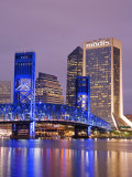 Main Street Bridge and Skyline, Jacksonville, Florida, United States of America, North America Photographic Print by Richard Cummins