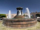Fuente Las Tarasca, a Famous Fountain, Morelia, Michoacan, Mexico, North America Photographic Print by Richard Maschmeyer