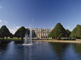 Lake, Fountain and Ornamental Trees in Hampton Court Palace Grounds, Near London Photographic Print by Nigel Blythe