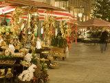 Altermarkt Christmas Market at Night, Altermarkt Square, Salzburg, Austria, Europe Photographic Print by Richard Nebesky