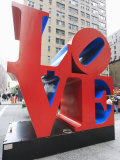 The Pop Art Love Sculpture by Robert Indiana, Sixth Avenue, Manhattan Photographic Print by Amanda Hall