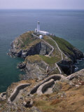 South Stack Lighthouse on the Western Tip of Holy Island, Anglesey Photographic Print by Nigel Blythe