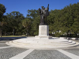 Sumter Monument in the Battery, White Point Gardens, Charleston, South Carolina Photographic Print by Richard Cummins