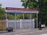 Station Sign at Llanfairpwllgwyngyllgo-Gerychwyrndrobwllllantysiliogogogoch Photographic Print by Nigel Blythe