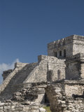 El Castillo at the Mayan Ruins of Tulum, Quintana Roo, Mexico, North America Photographic Print by Richard Maschmeyer