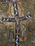 12th Century Fresco of Christ's Triumph on the Cross, San Clemente Basilica, Rome, Lazio Fotografie-Druck von Godong