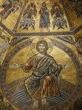 Mosaic of Jesus Christ in Baptistery of Duomo, Florence, Tuscany, Italy, Europe Photographic Print by  Godong