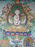 Painting of Avalokitesvara, the Buddha of Compassion, Kathmandu, Nepal, Asia Photographic Print by Godong