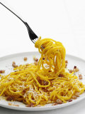 Spaghetti Alla Carbonara, Italy, Europe Photographic Print by Angelo Cavalli