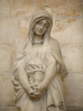 Mary Magdalene Statue in Vezelay Basilica, Vezelay, Yonne, Burgundy Photographic Print by  Godong