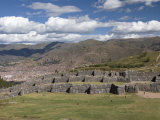 The Zig-Zag Fortress of Sacsayhuaman, with Cuzco in the Background, Cuzco, Peru, South America Photographic Print by Richard Maschmeyer