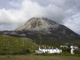 Mount Errigal and Dunlewy Village, County Donegal, Ulster, Republic of Ireland, Europe Photographic Print by Richard Cummins
