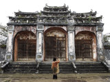 Woman Taking Photo of Temple Gates, Vietnam, Indochina, Southeast Asia, Asia Photographic Print by  Purcell-Holmes