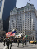 St. Patricks Day Celebrations in Front of the Plaza Hotel, 5th Avenue, Manhattan Photographic Print by Christian Kober