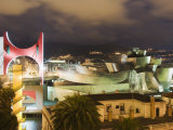 The Guggenheim, Designed by Canadian-American Architect Frank Gehry, Built by Ferrovial Photographic Print by Christian Kober