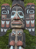 Tlingit Chief Johnson Totem Pole, Ketchikan, Alaska, United States of America, North America Photographic Print by Richard Maschmeyer