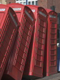 Red Telephone Box Sculpture Entitled Out of Order by David Mach, Kingston Upon Thames, Surrey Photographic Print by Hazel Stuart