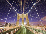 Brooklyn Bridge and Manhattan Skyline from Brooklyn Photographic Print by Christian Kober