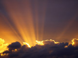 Sun Beams Through Stormy Sky, Sydney, New South Wales, Australia, Pacific Photographic Print by Mark Mawson