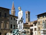 The Neptune Statue, Piazza Della Signoria, Florence, Tuscany Photographic Print by Nico Tondini