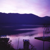 Sunset on Lake Quinault, Olympic National Park, Washington. United States of America Photographic Print by Aaron McCoy