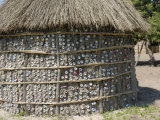 Recycling of Aluminium Cans as Used in Traditional House, Botswana, Africa Photographic Print by Peter Groenendijk