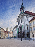 Town Hall Square, Ljubljana, Slovenia, Europe Photographic Print by Guy Edwardes